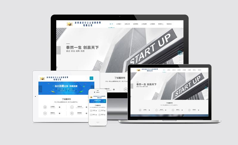 深圳香港公司注册商务服务中文企业网站建设案例