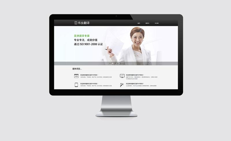 深圳书虫翻译有限公司中文电脑版网站模板案例