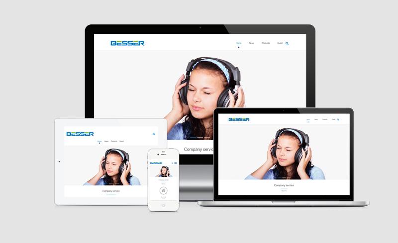 蓝牙耳机外贸英文网站官网设计制作解决方案